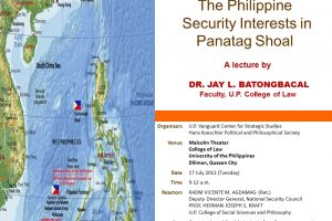The Philippine Security Interests in Panatag Shoal