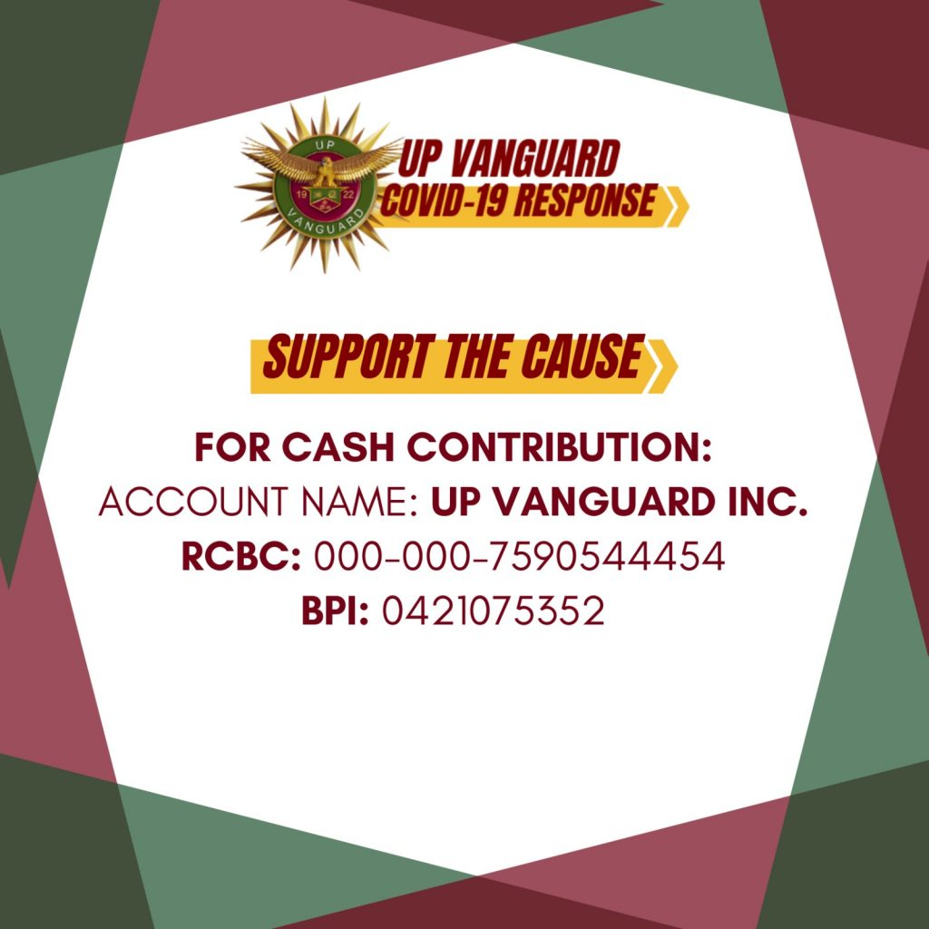 Support the Cause: UP Vanguard COVID-19 Response