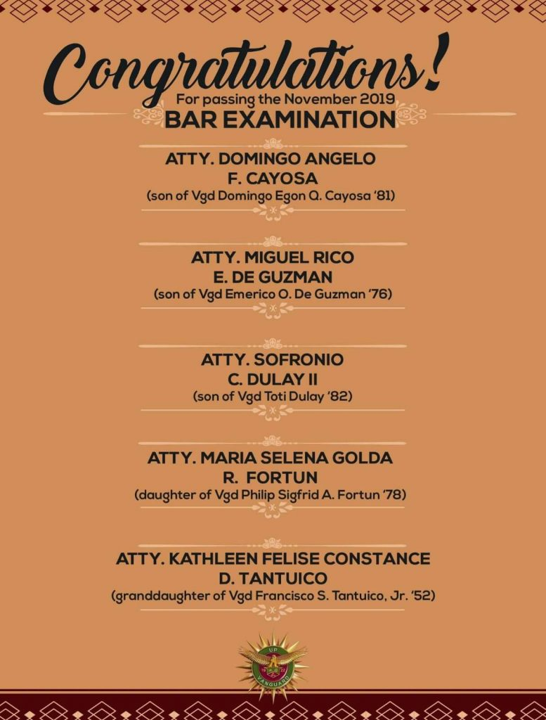 Congrats brods for the successes of your sons and daughter!! The fruits do not fall far from very strong trees!!! Kudos to all the great Vanguard lawyers!!