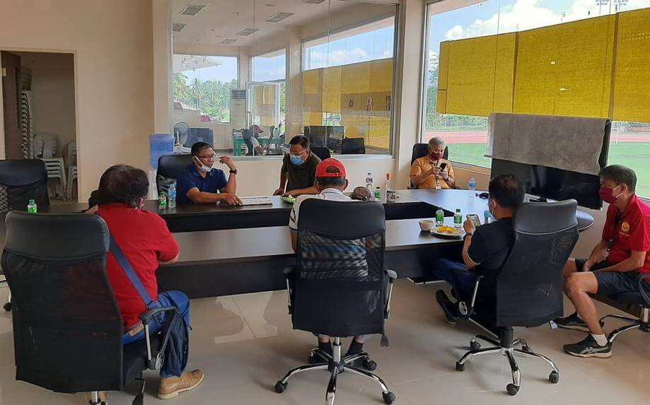 13 June 2020 ARESCOM Commander MGen PJ Bondoc '85 meeting with Davao Chapter at Davao City University of the Philippines Sports Complex