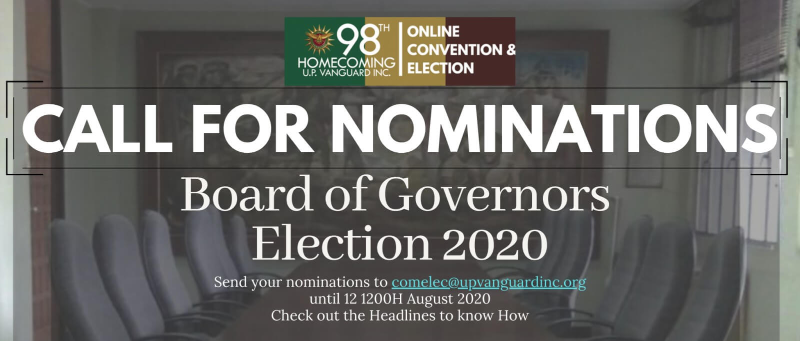 Notice of Nomination of Candidates to the Board of Governors