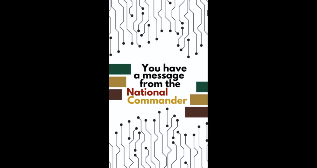 Message of the National Commander on 98th Online Convention & Election