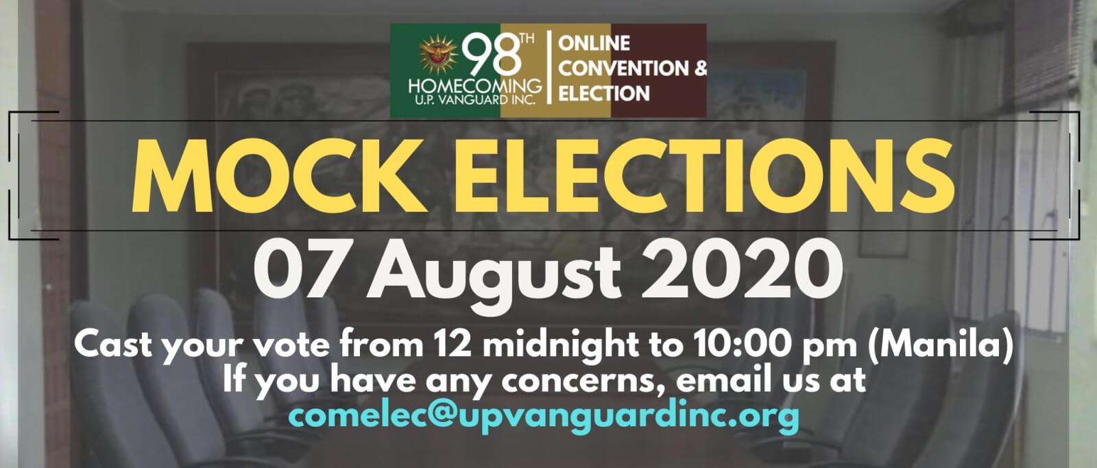 UPVI Mock Election 2020