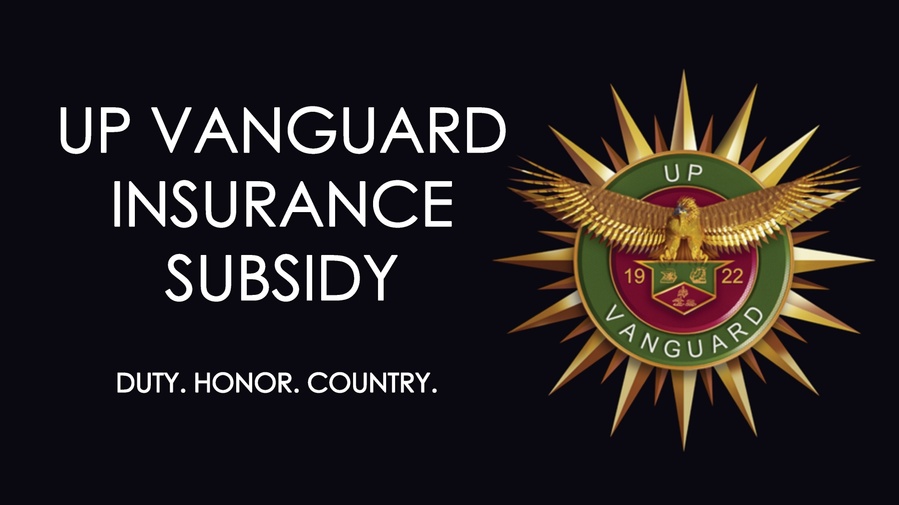 UP Vanguard Insurance Subsidy