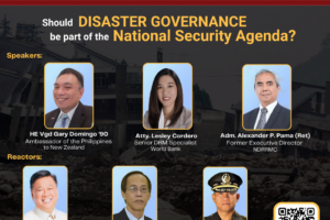 UP Vanguard leads the Disaster Management discussion on 29 April