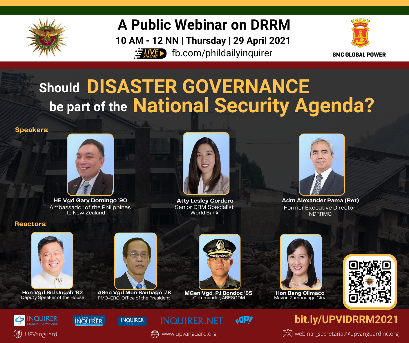 Should DISASTER GOVERNANCE be part of the National Security agenda?